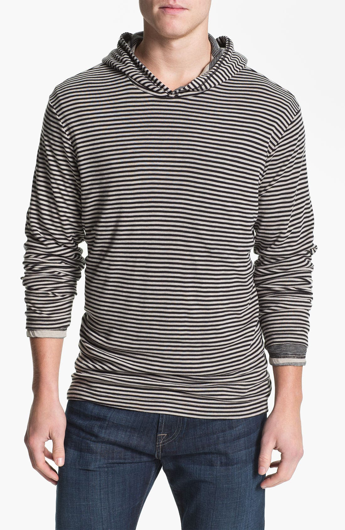 Alternate Image 1 Selected - Splendid Mills 'Anderson' Reversible Stripe Hoodie