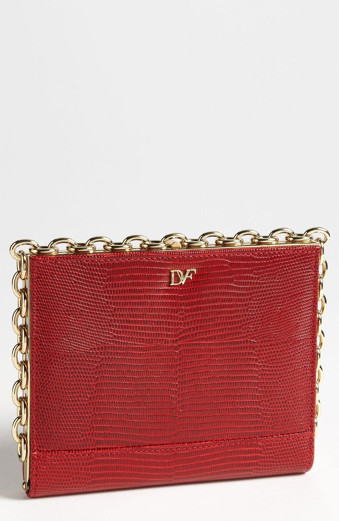 Alternate Image 1 Selected - Diane von Furstenberg 'Catena' Lizard Embossed Clutch