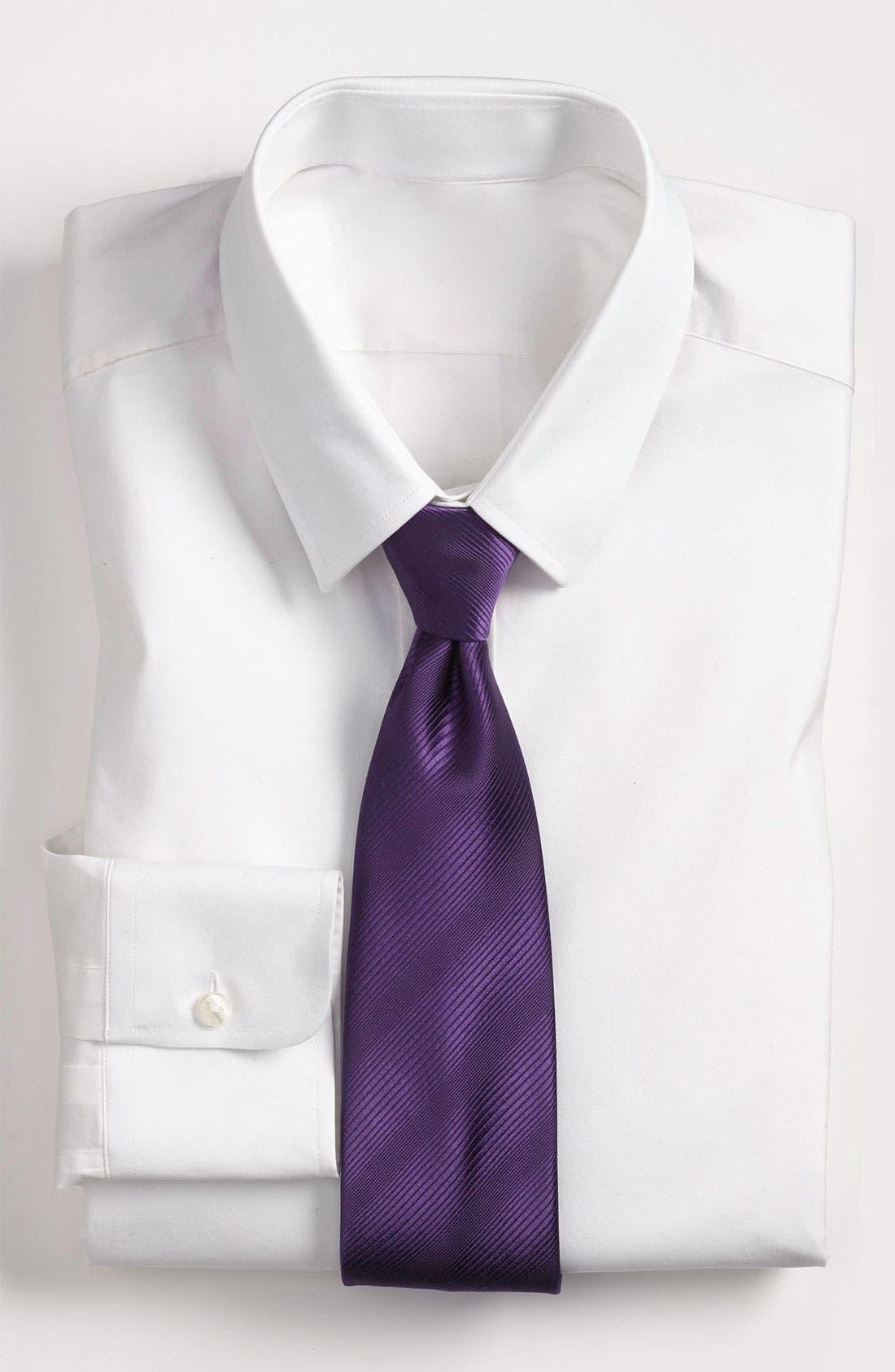 Main Image - Yves Saint Laurent Tonal Stripe Woven Silk Tie