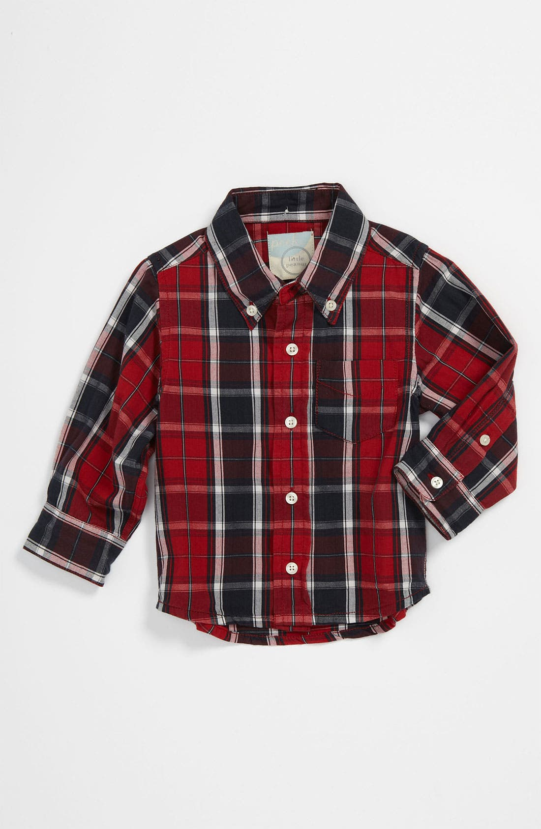 Main Image - Peek 'Heritage' Plaid Shirt (Infant)