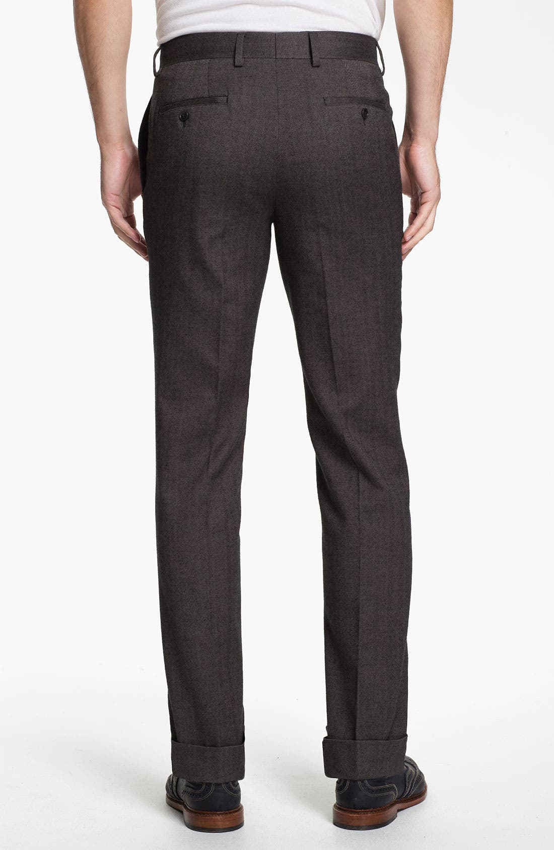 Alternate Image 2  - 1901 Straight Leg Herringbone Trousers