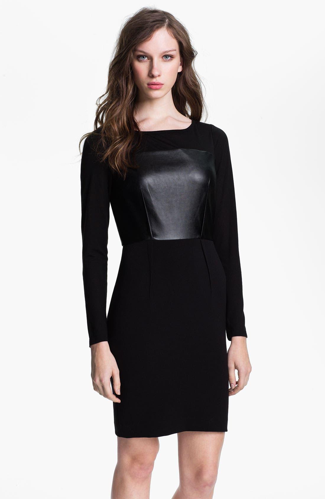 Alternate Image 1 Selected - DKNYC Long Sleeve Mix Media Dress