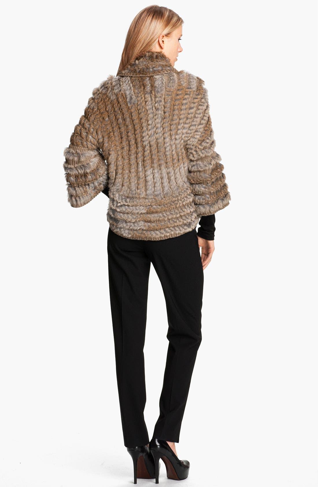 Alternate Image 5  - Alberto Makali Knit & Genuine Rabbit Fur Shrug