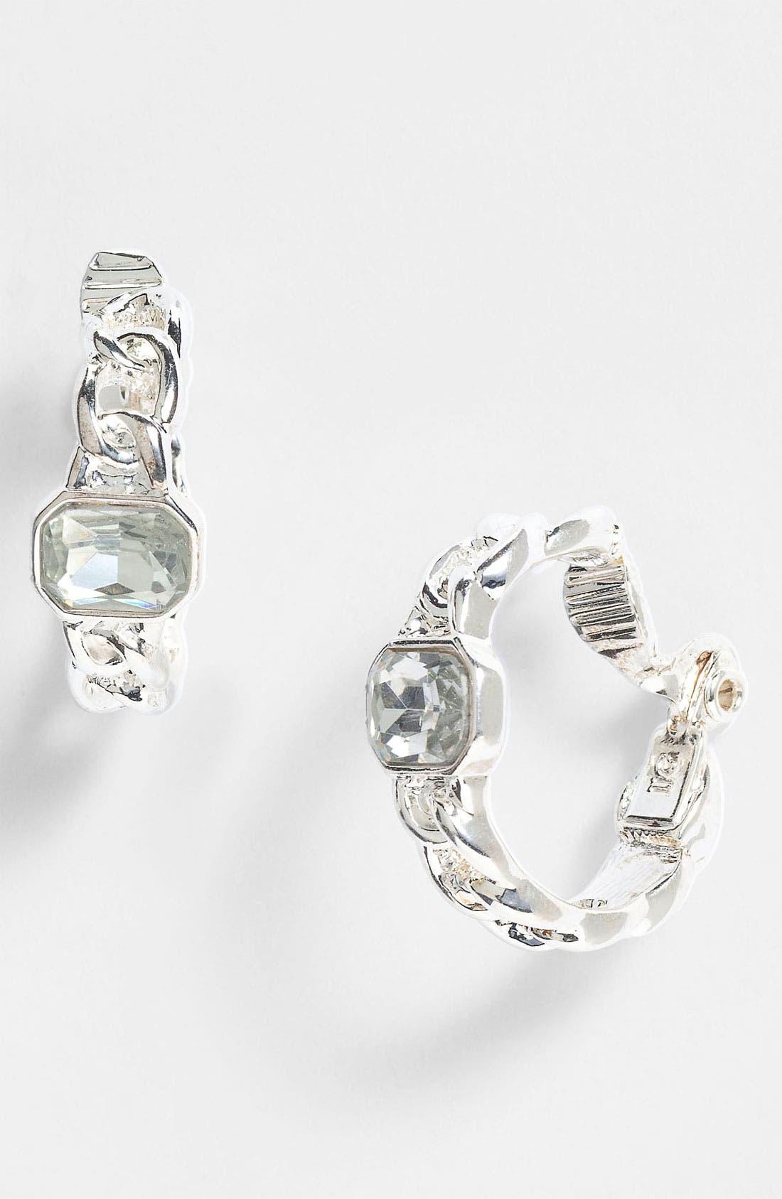 Alternate Image 1 Selected - Anne Klein Hoop Clip Earrings