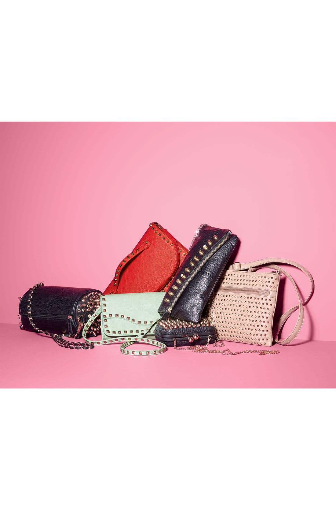 Alternate Image 5  - Street Level Studded Convertible Crossbody Bag