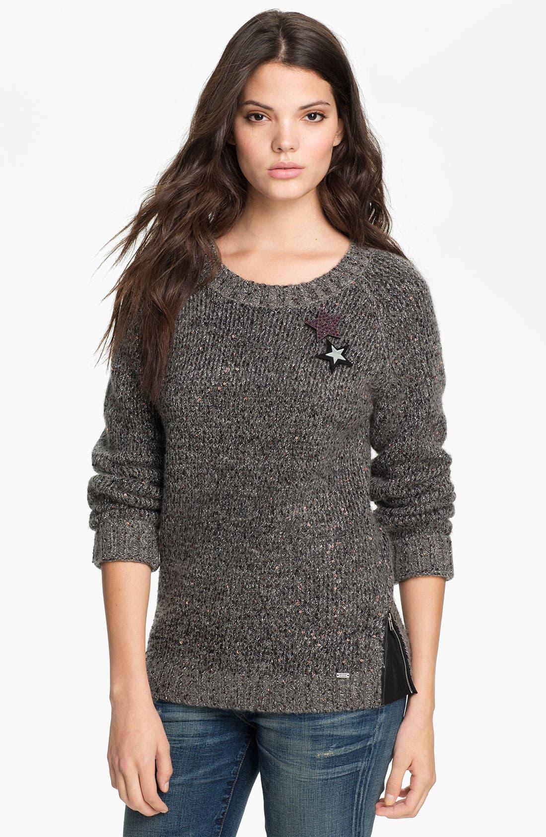 Main Image - Maison Scotch Sequin Sweater
