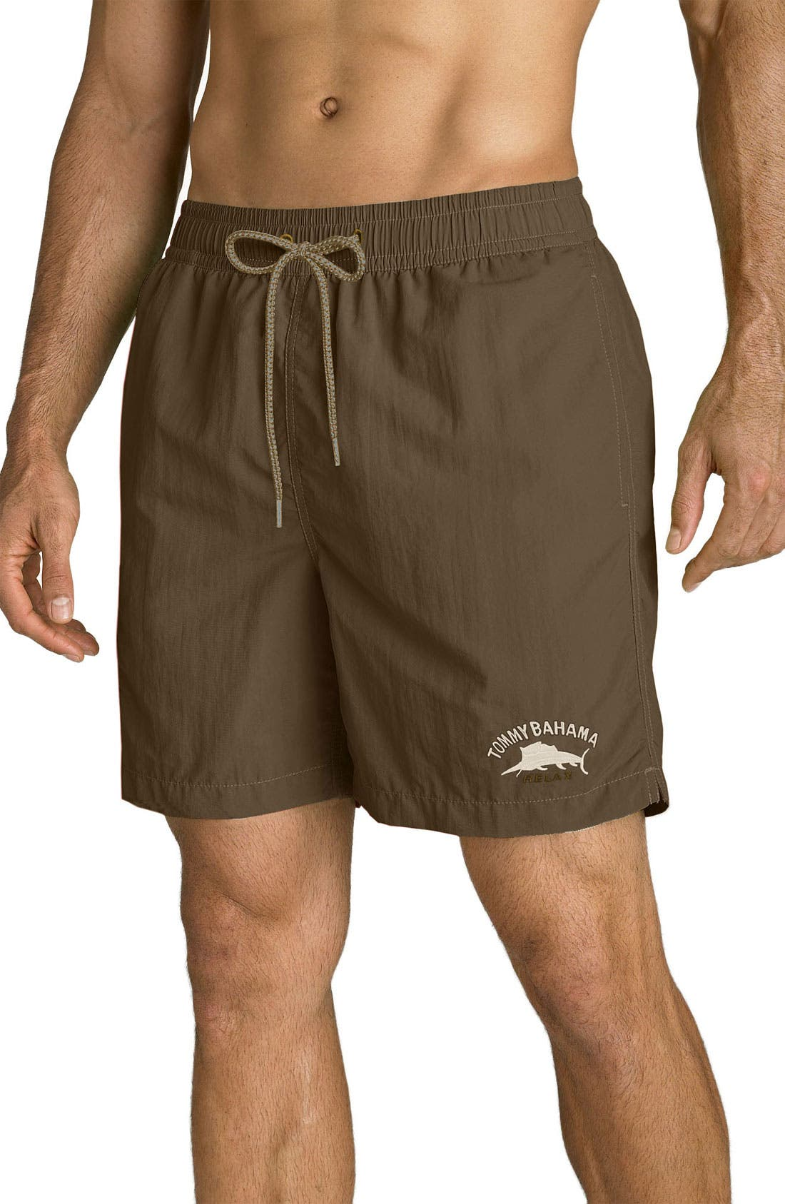 Main Image - Tommy Bahama Relax 'Happy Go Cargo' Volley Swim Trunks