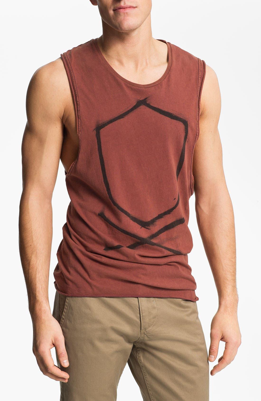 Alternate Image 1 Selected - Zanerobe 'Z Bones' Print Muscle T-Shirt