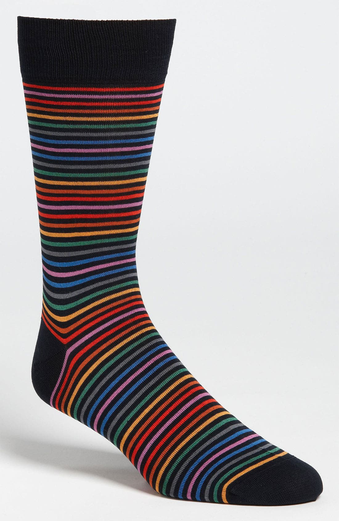 Alternate Image 1 Selected - Bugatchi Uomo Stripe Socks