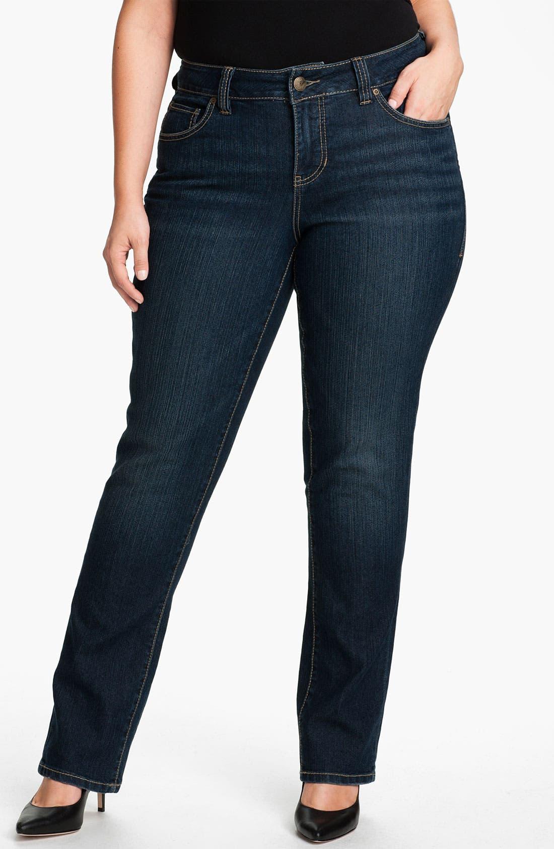 Alternate Image 1 Selected - Jag Jeans 'Celia' Straight Leg Jeans (Plus)