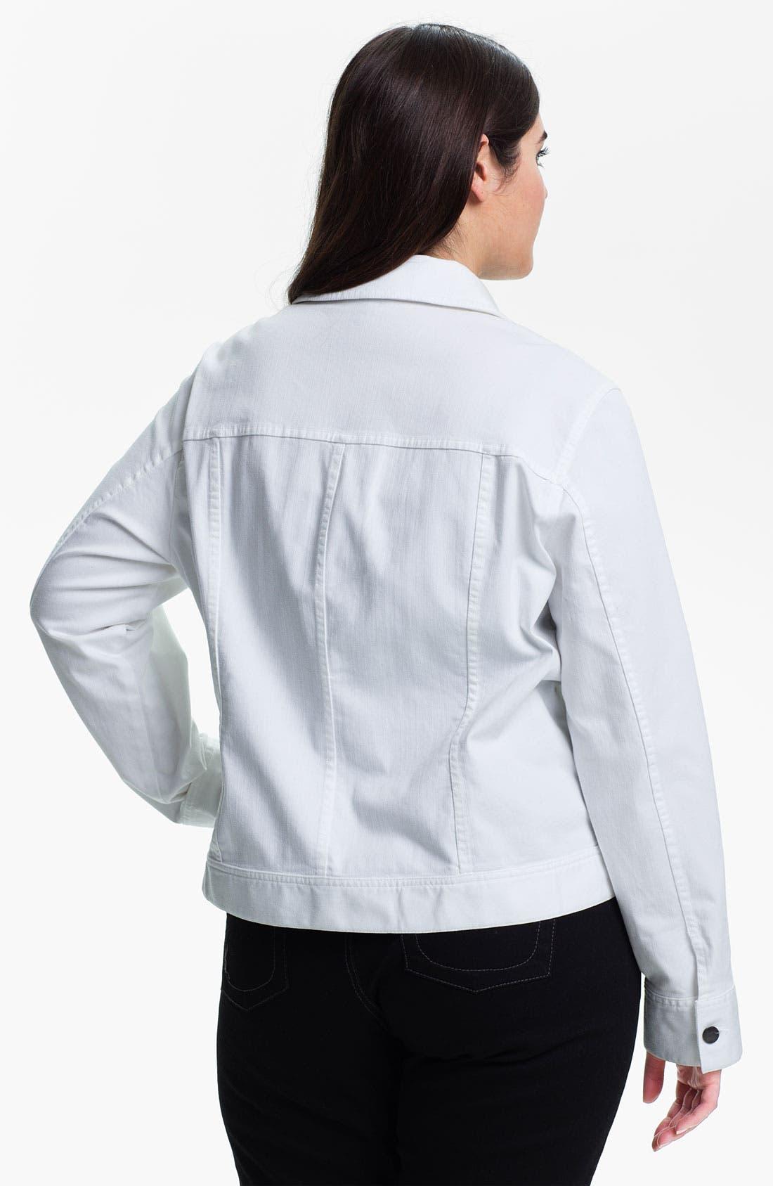 Alternate Image 2  - Eileen Fisher Organic Cotton Jean Jacket (Plus)
