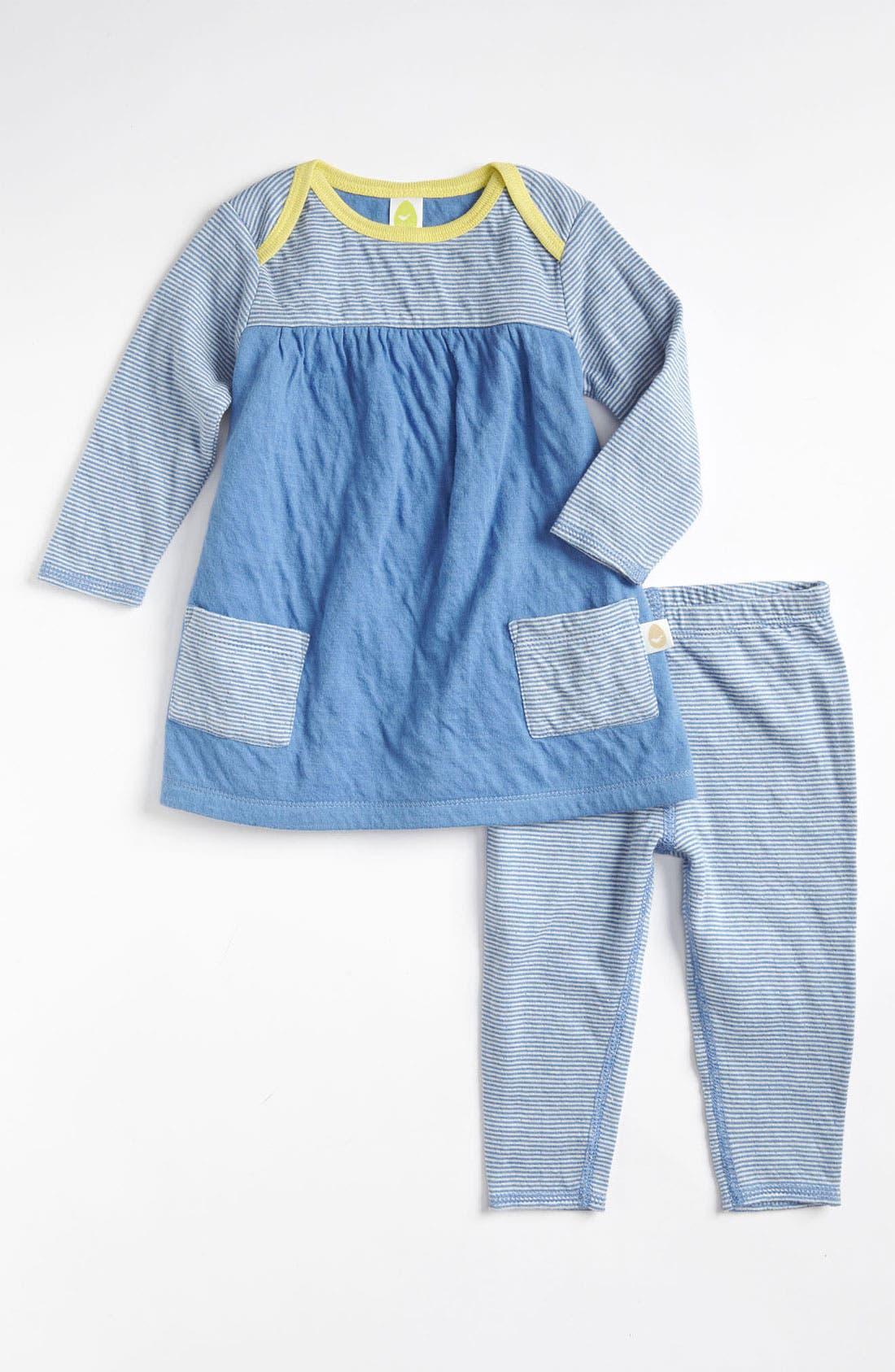 Alternate Image 1 Selected - Stem Baby Dress & Leggings (Infant)