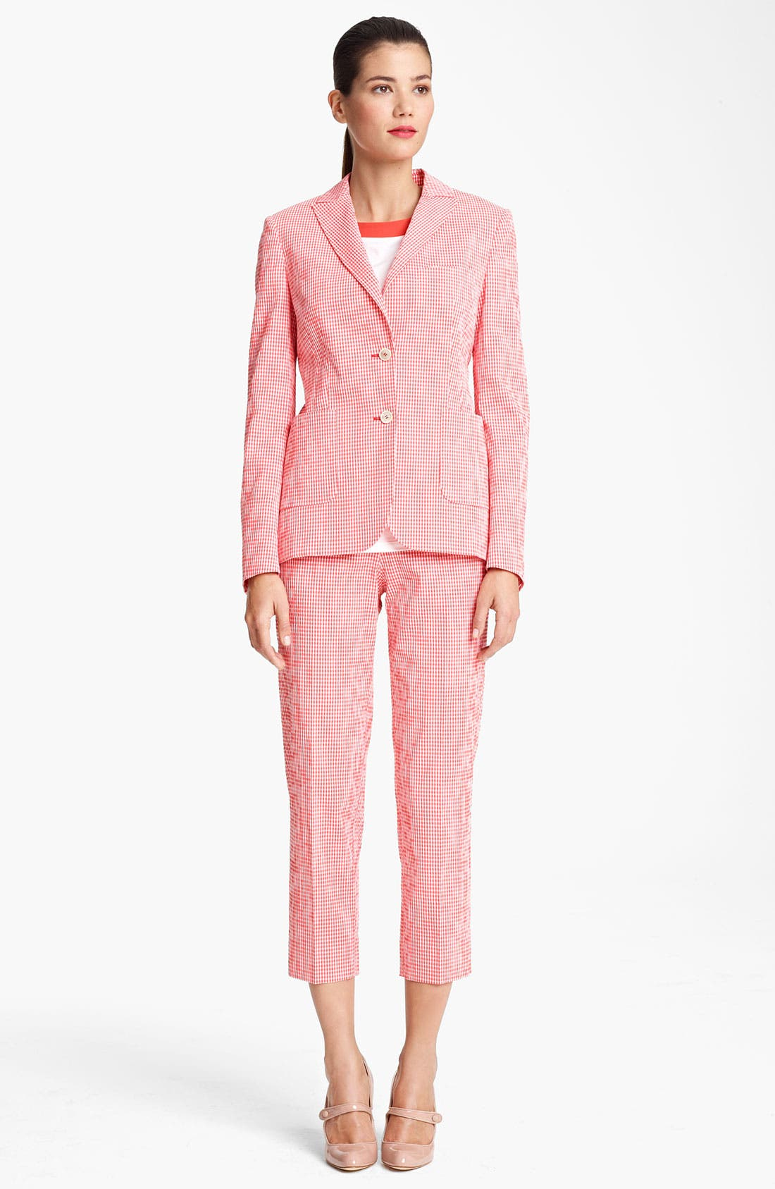 Alternate Image 1 Selected - Piazza Sempione Gingham Two Button Jacket