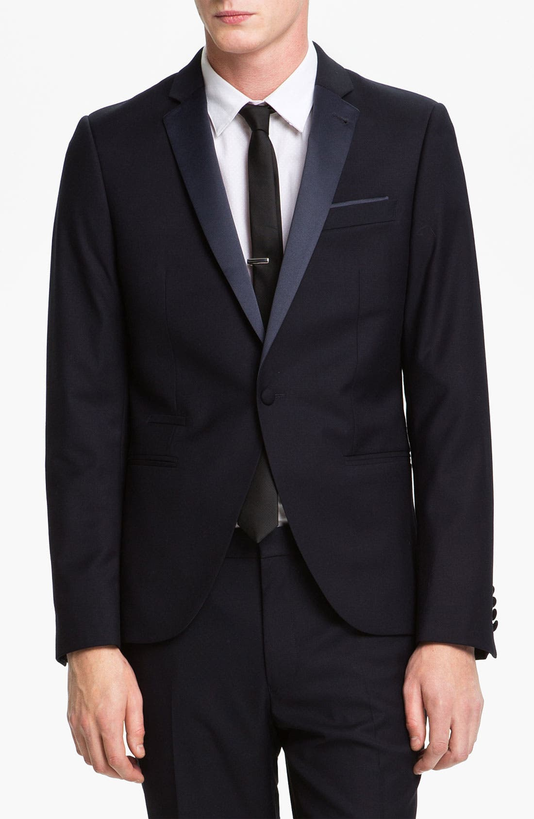 Main Image - Topman Skinny Fit Single-Button Tuxedo Jacket