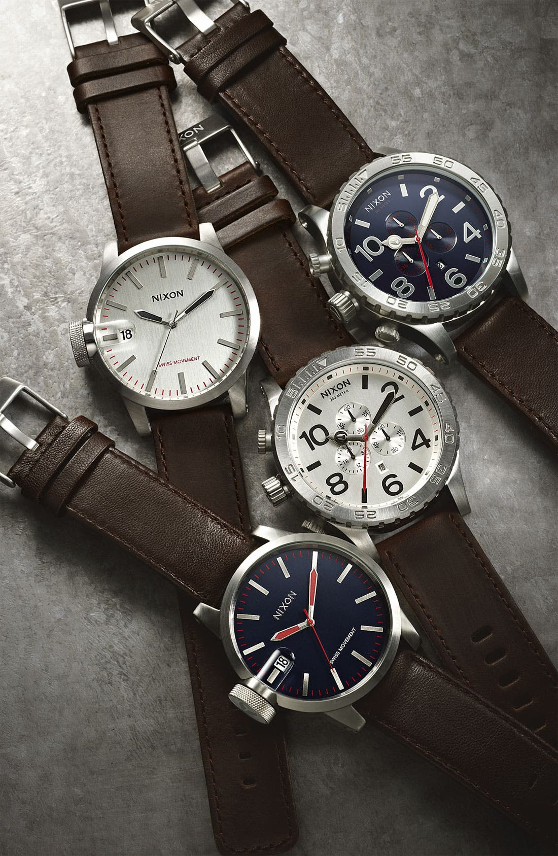 Alternate Image 2  - Nixon 'The 51-30 Chrono' Leather Watch