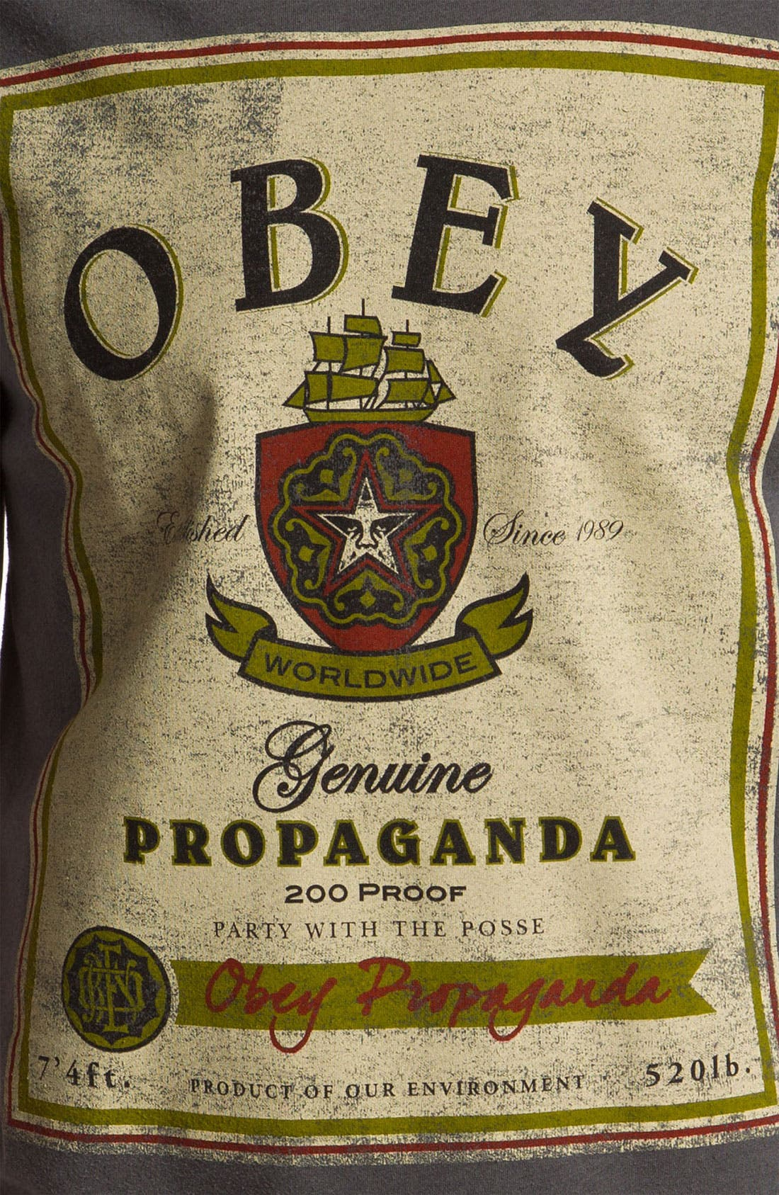 Alternate Image 3  - Obey 'Whiskey Label' Graphic T-Shirt