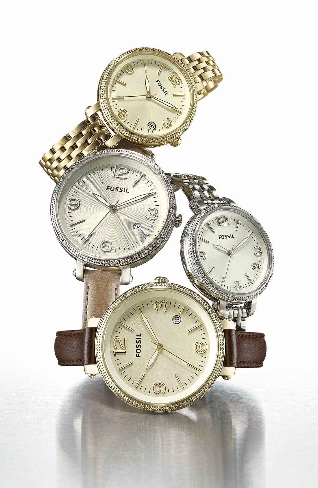 Alternate Image 2  - Fossil 'Small Heather' Round Bracelet Watch, 34mm