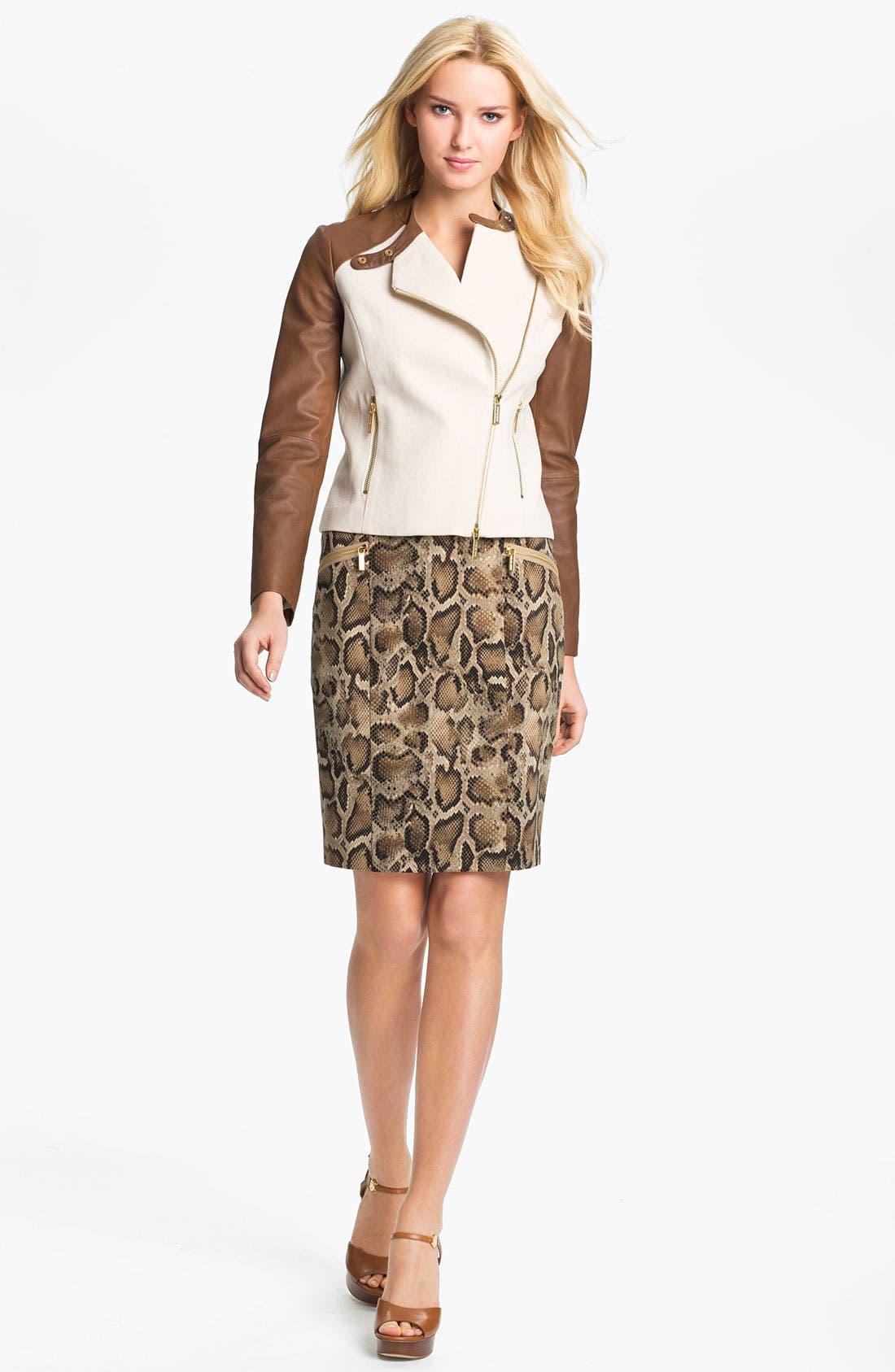 Alternate Image 4  - MICHAEL Michael Kors 'Mamba' Snake Print Pencil Skirt