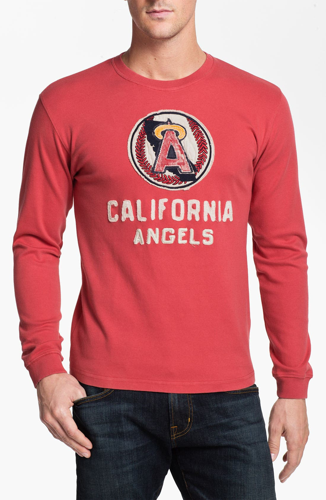 Alternate Image 1 Selected - Red Jacket 'Angels - Team City' Long Sleeve T-Shirt