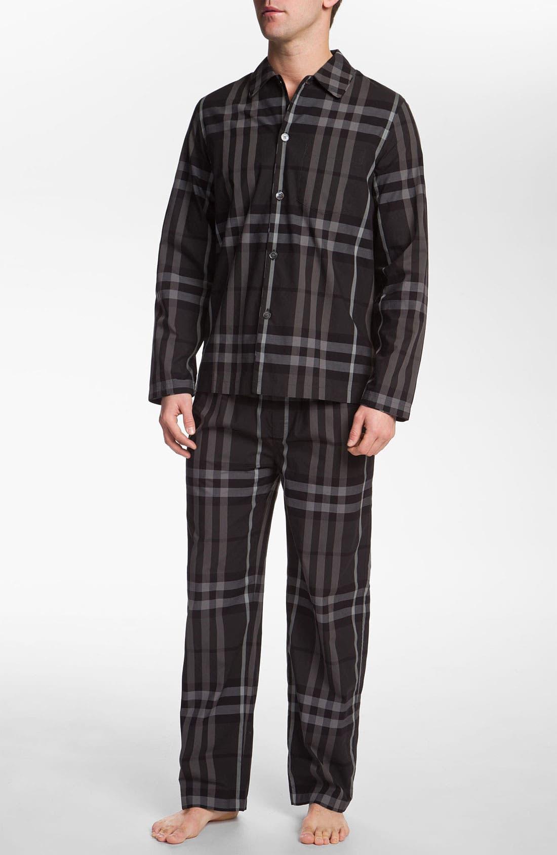 Alternate Image 1 Selected - Burberry London Pajama Set