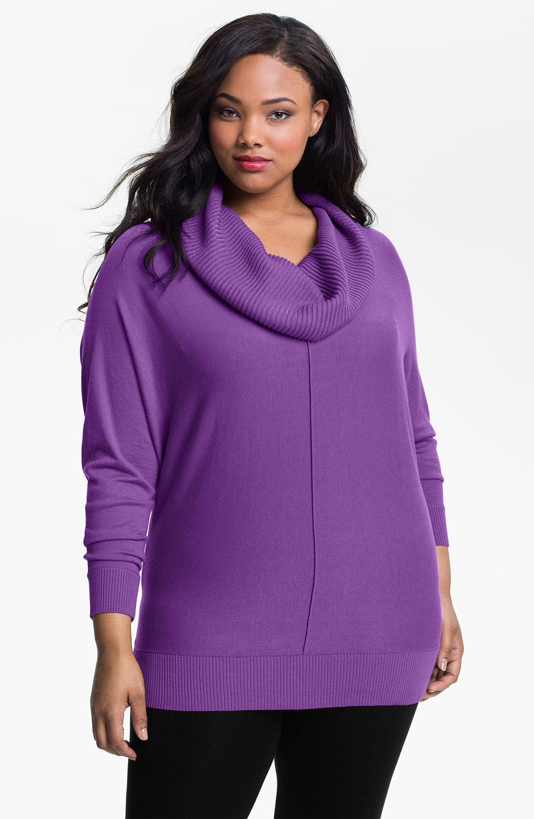 Alternate Image 1 Selected - Sejour Cowl Neck Sweater (Plus)