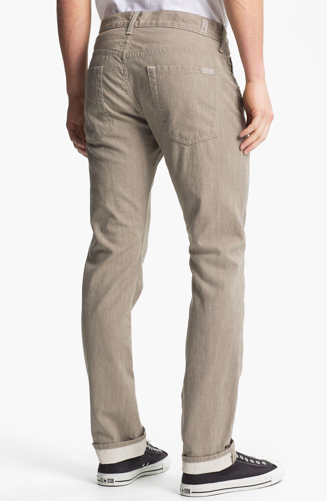Main Image - 7 For All Mankind® Signature Straight Leg Pants