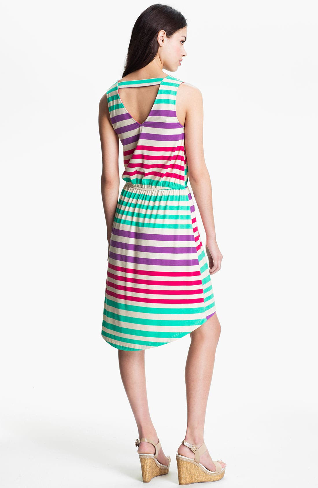 Alternate Image 2  - Pleione Stripe V-Neck Dress