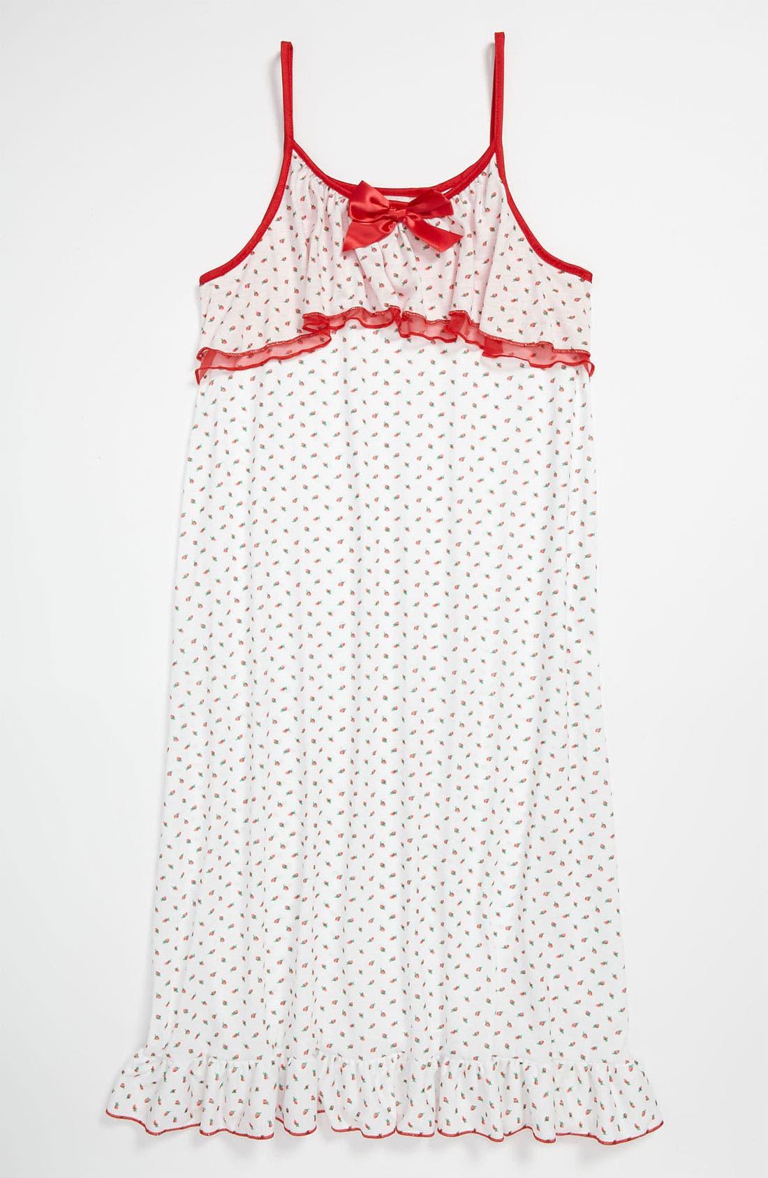 Alternate Image 1 Selected - Laura Dare 'Rosebud' Nightgown (Big Girls)