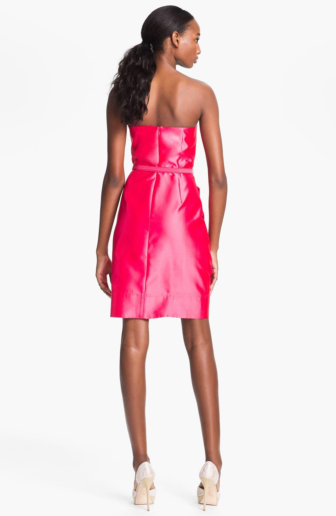 Alternate Image 2  - Eliza J Strapless Foldover Faille Tulip Dress