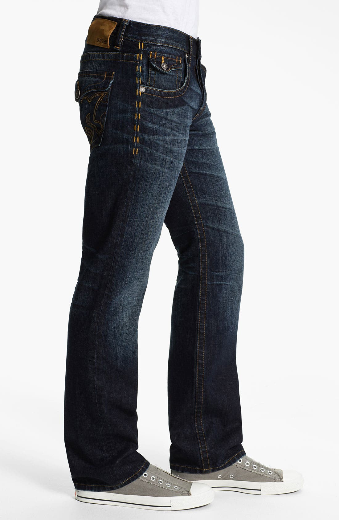 Alternate Image 3  - MEK Denim 'Tucker' Straight Leg Jeans (Chandler)