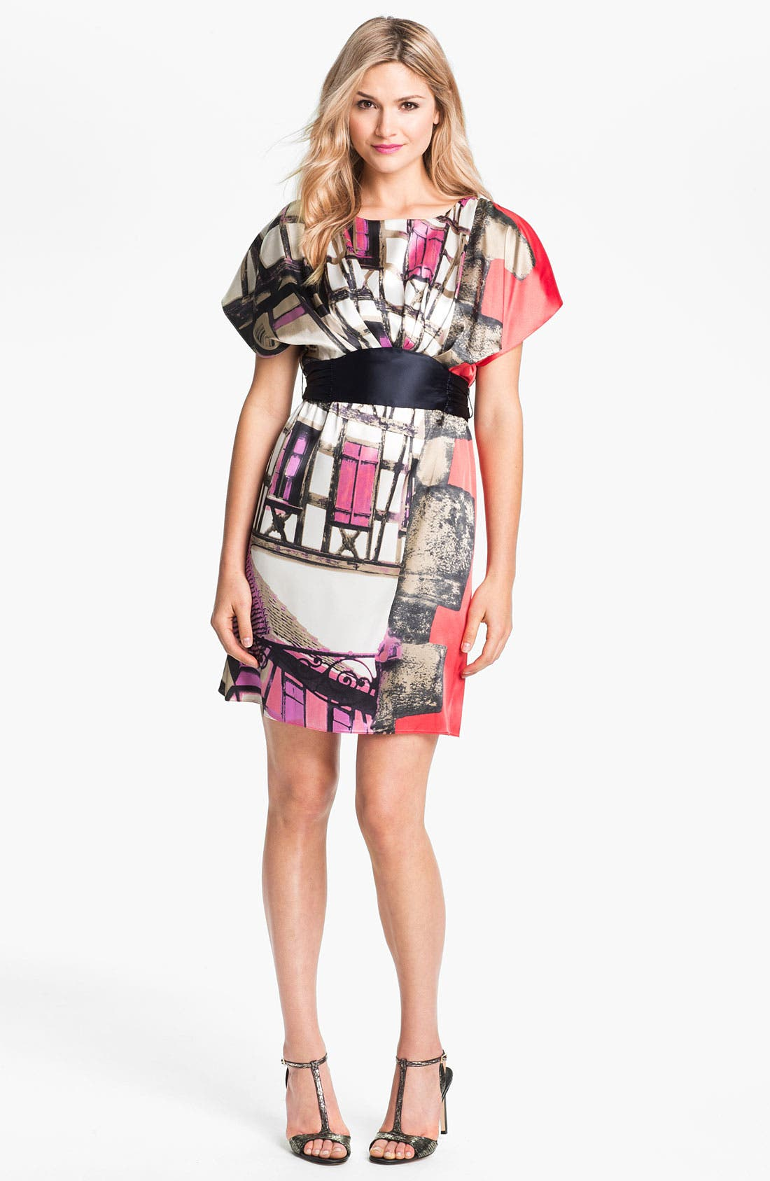 Main Image - Suzi Chin for Maggy Boutique Print Charmeuse Dress