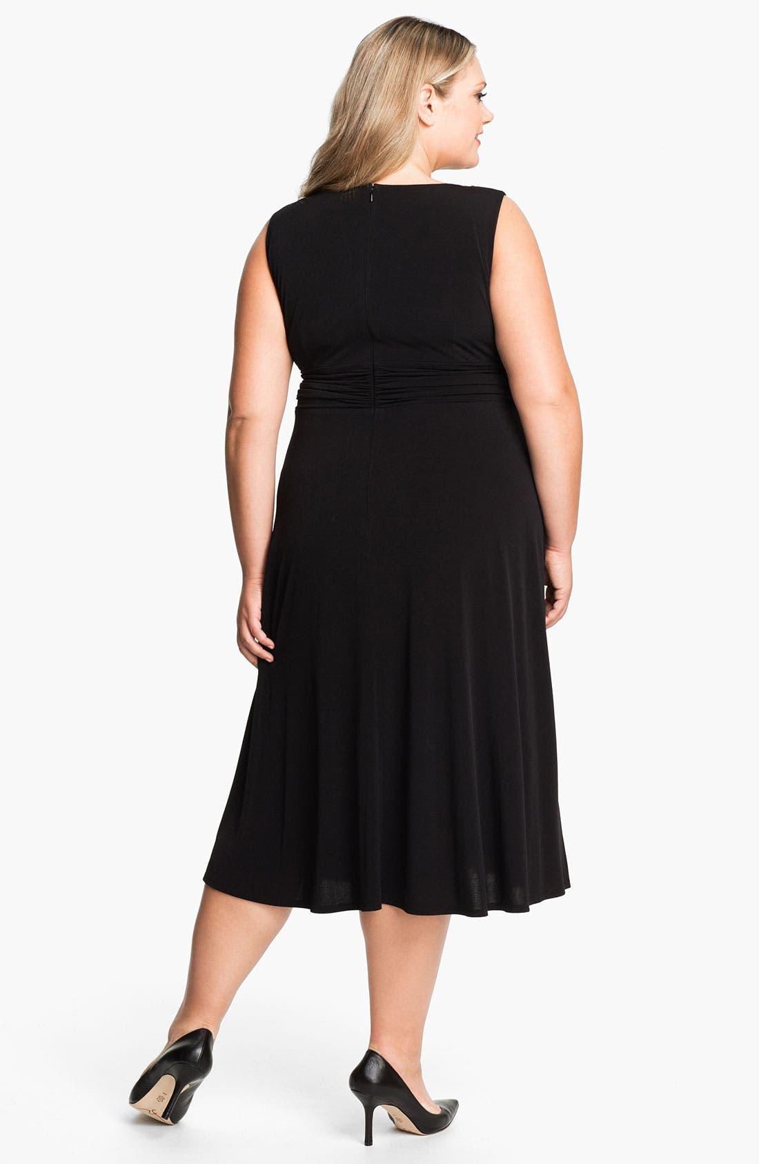 Alternate Image 2  - Eliza J Sleeveless Empire Knit Dress & Bolero (Plus)