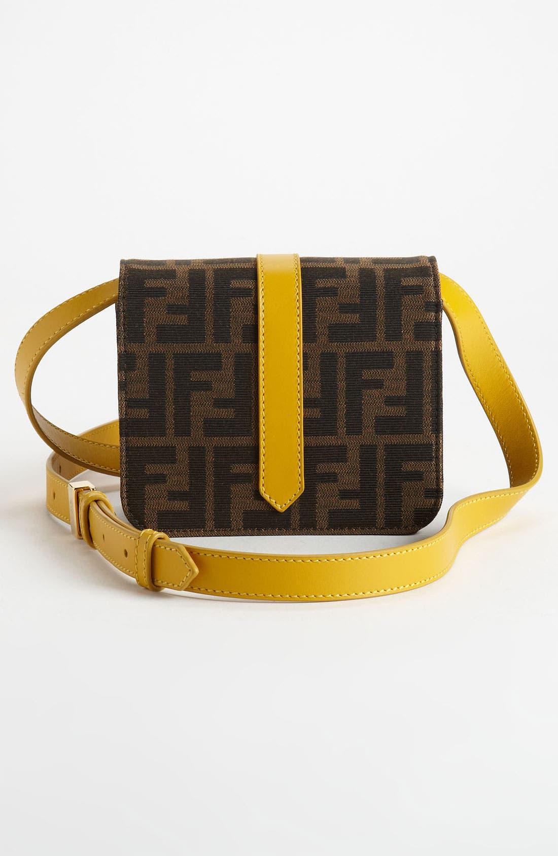 Alternate Image 4  - Fendi 'Tevere Zucca - Mini' Crossbody Bag