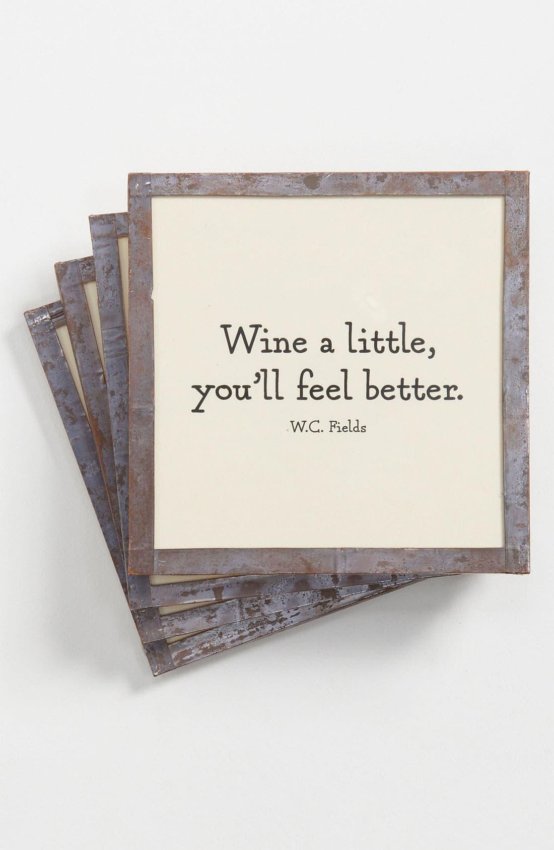 Alternate Image 1 Selected - Ben's Garden 'Wine a Little' Coaster Set