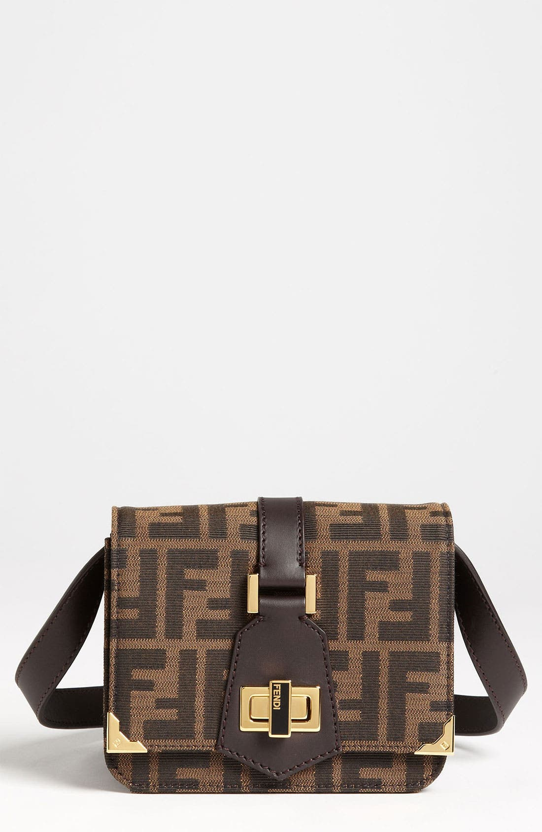 Main Image - Fendi 'Tevere Zucca - Mini' Crossbody Bag