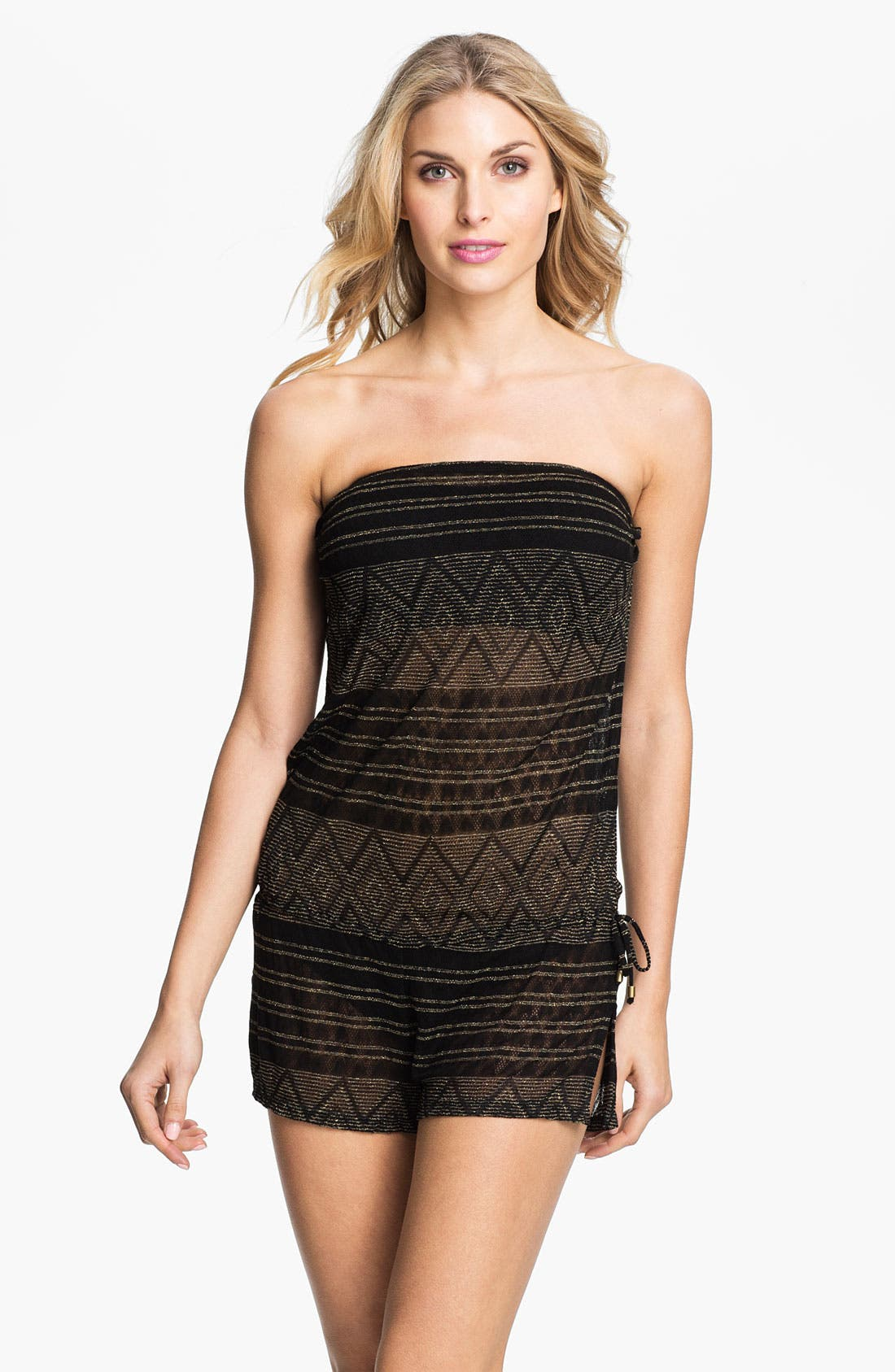Main Image - Vitamin A® 'Dunes' Sheer Romper Cover-Up
