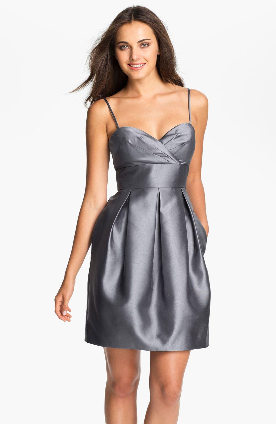 Alternate Image 1 Selected - Eliza J Sweetheart Neckline Taffeta Tulip Dress