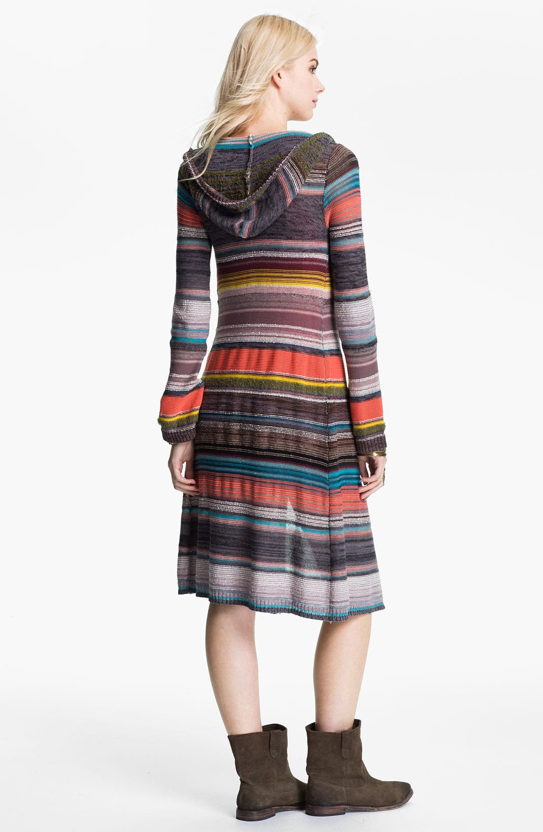 Alternate Image 2  - Free People 'Serape Stripe' Hooded Cardigan