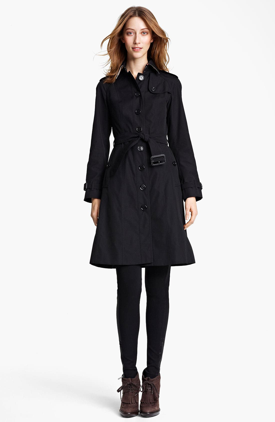 Alternate Image 1 Selected - Burberry London Belted Trench Coat