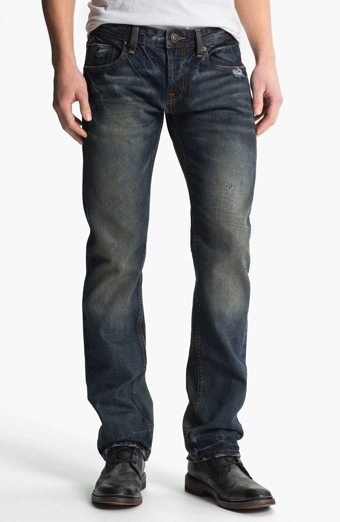 Alternate Image 2  - Cult of Individuality 'Rebel' Straight Leg Jeans (Greaser)
