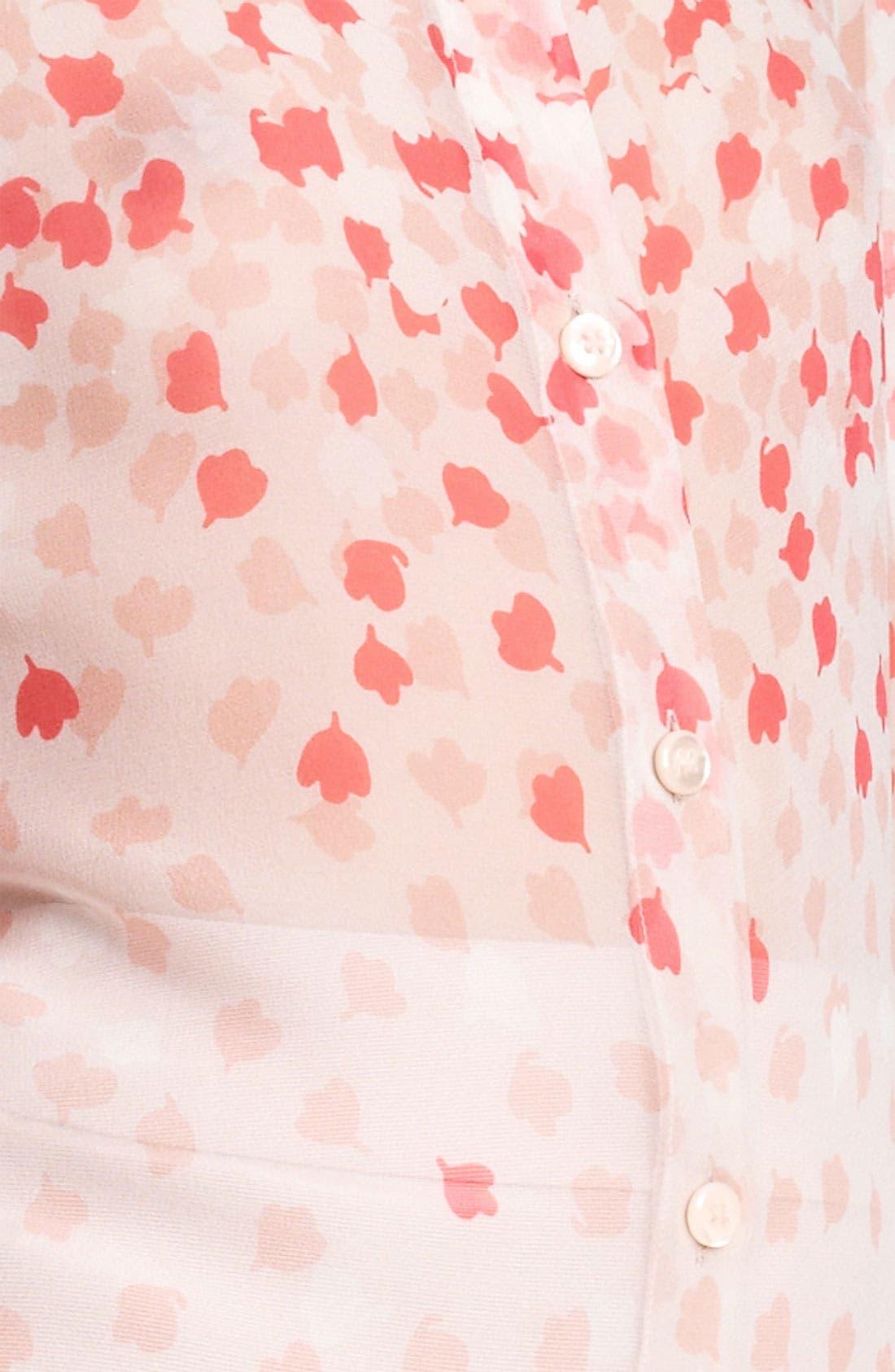 Alternate Image 3  - Armani Collezioni Print Silk Blouse