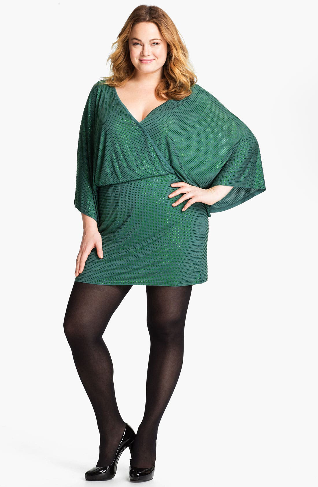 Main Image - Sheri Bodell Crystal Minidress (Plus)