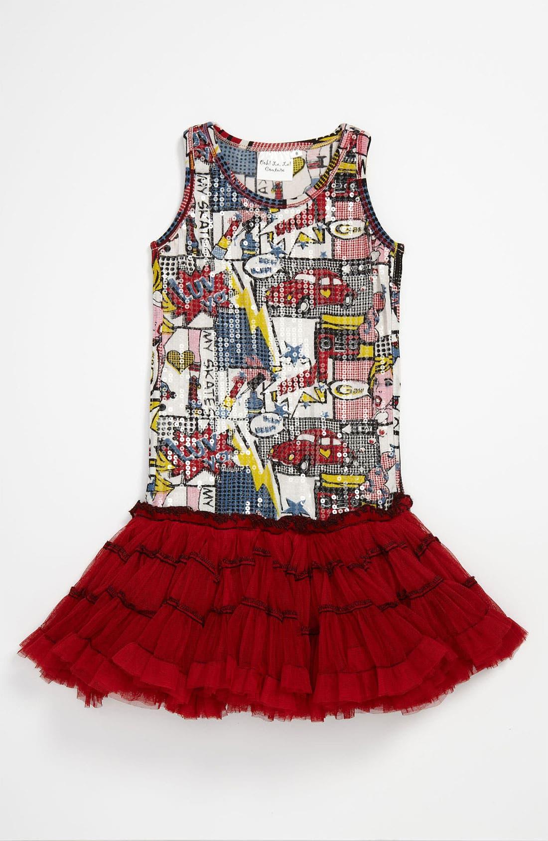 Alternate Image 1 Selected - Ooh! La, La! Couture Print Dress (Little Girls & Big Girls)