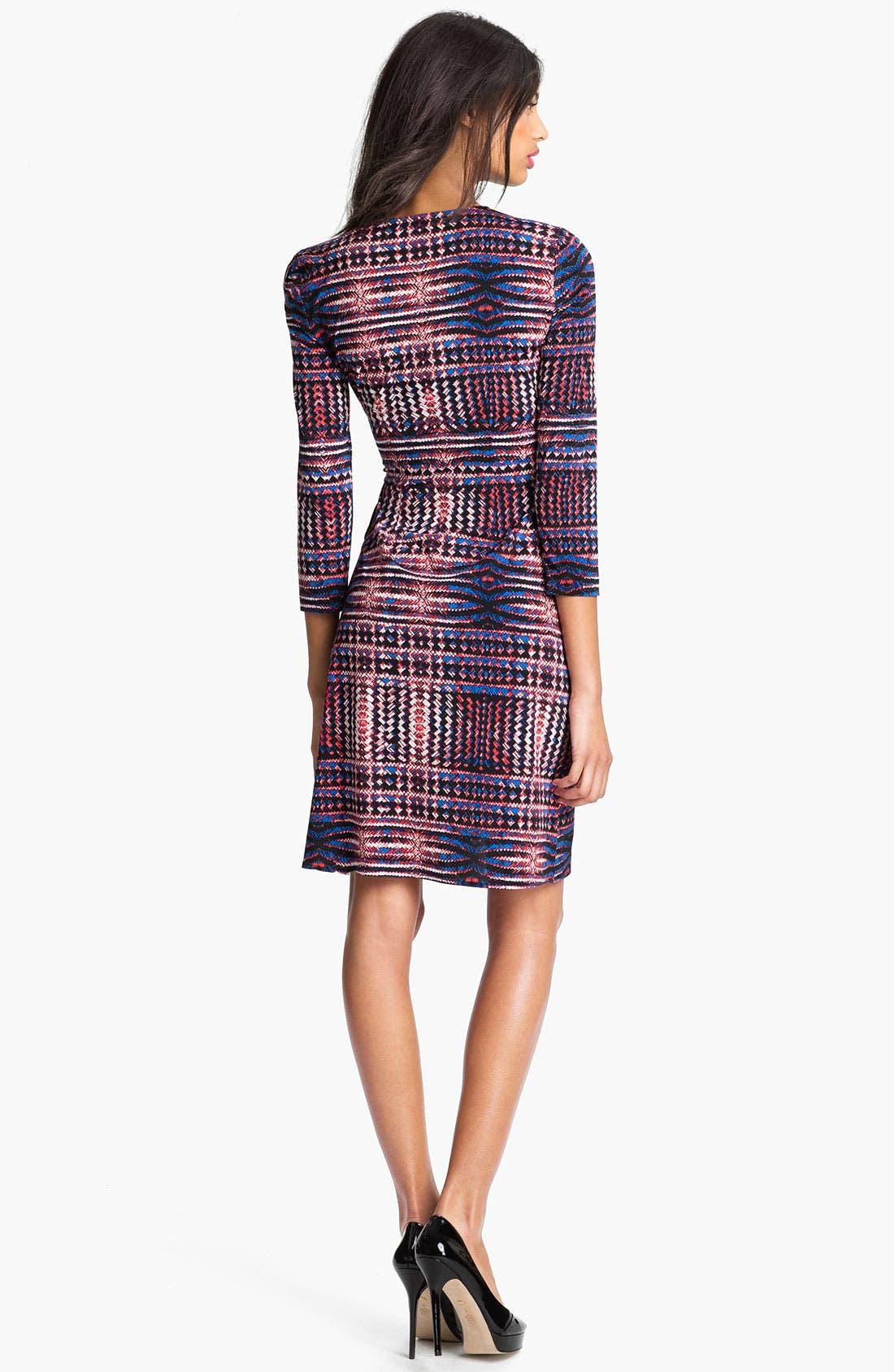 Alternate Image 2  - BCBGMAXAZRIA Print Wrap Dress