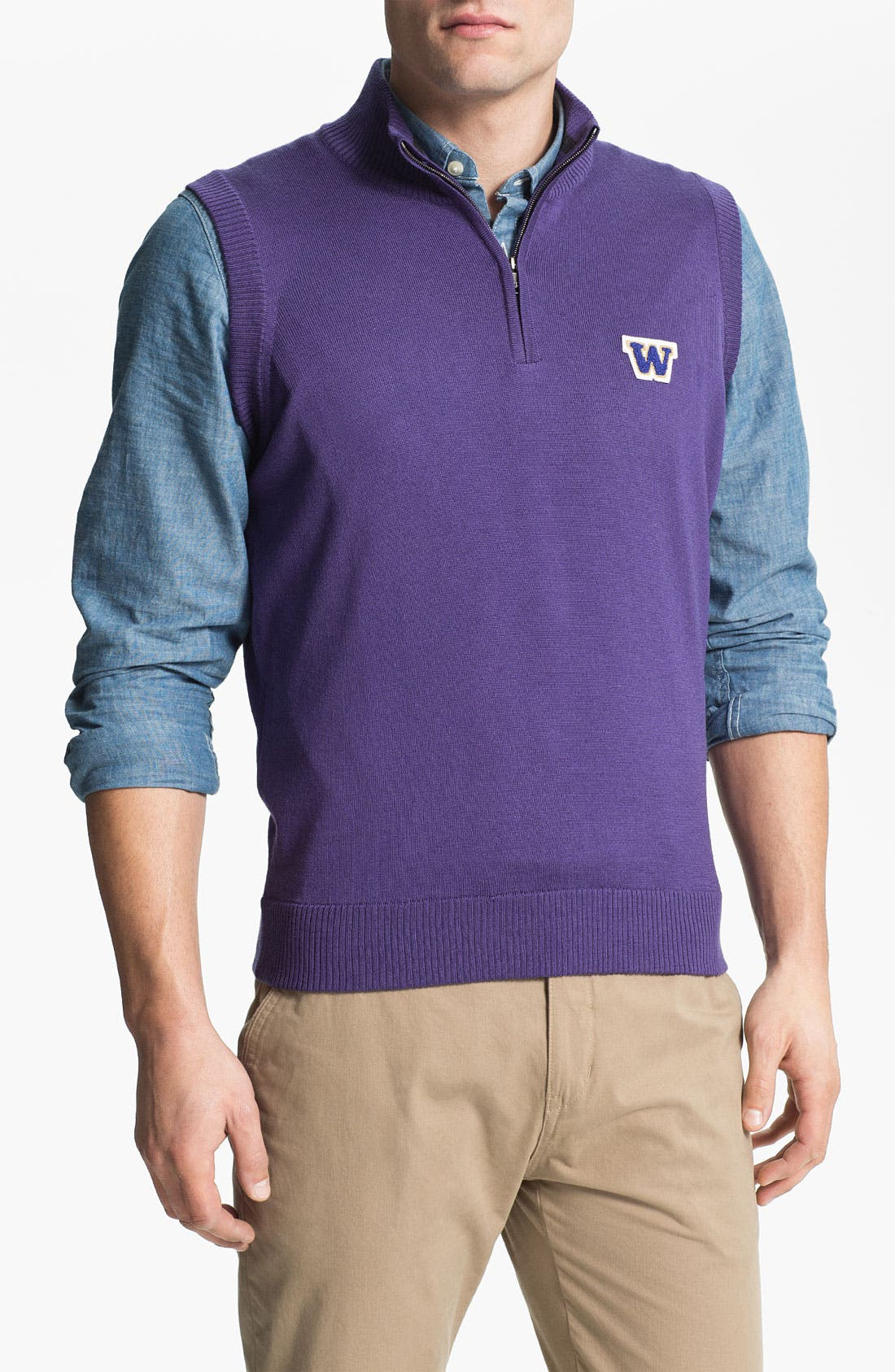 Main Image - WASHINGTON 1/4 ZIP SWEATER VEST