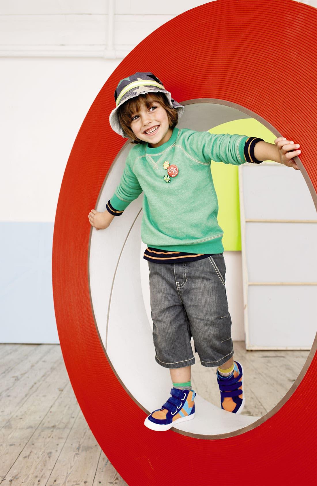 Alternate Image 2  - Mini Boden Crewneck Sweatshirt (Little Boys & Big Boys)