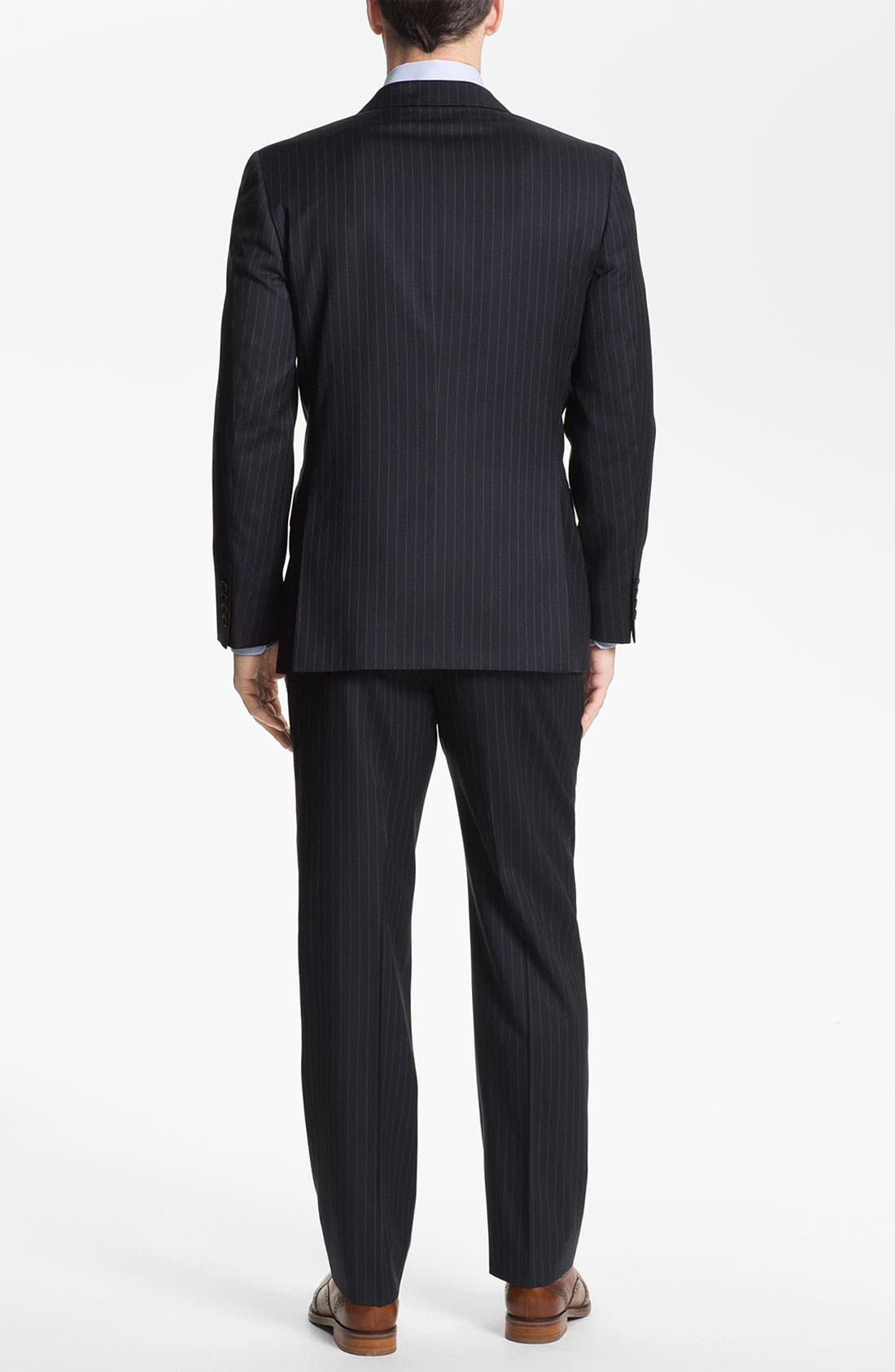 Alternate Image 3  - Joseph Abboud Trim Fit Peak Lapel Stripe Suit