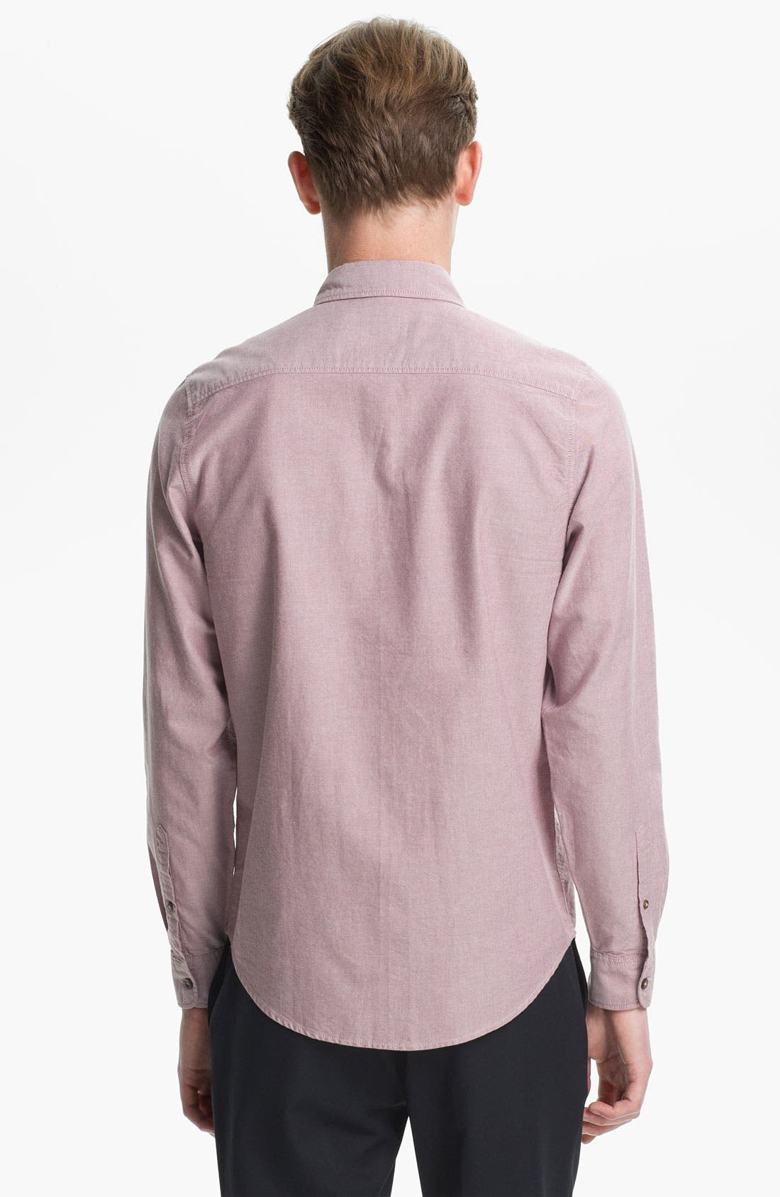 Alternate Image 2  - Topman Curved Collar Oxford Shirt