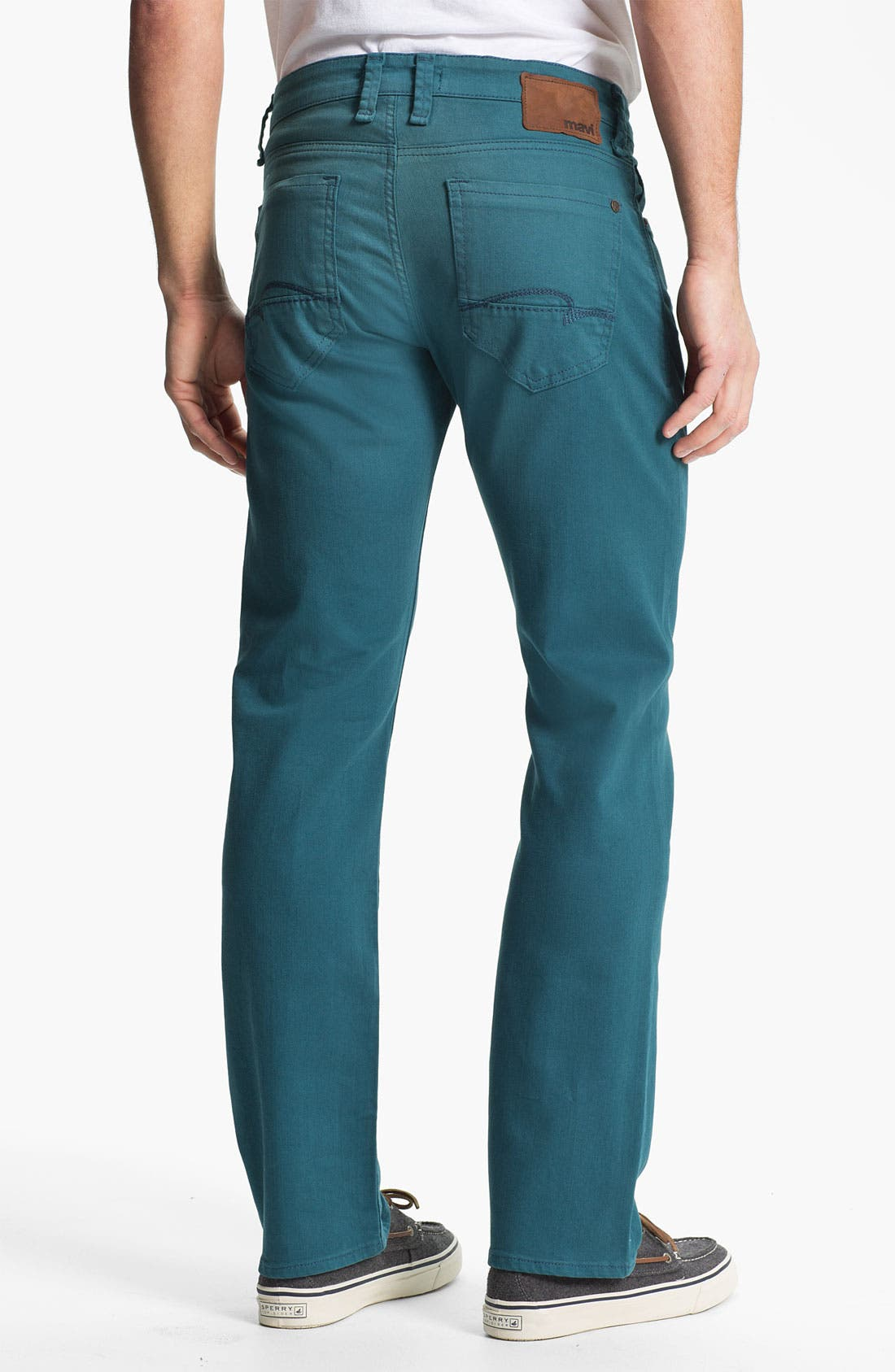 Alternate Image 1 Selected - Mavi Jeans 'Zach' Straight Leg Jeans (Teal)
