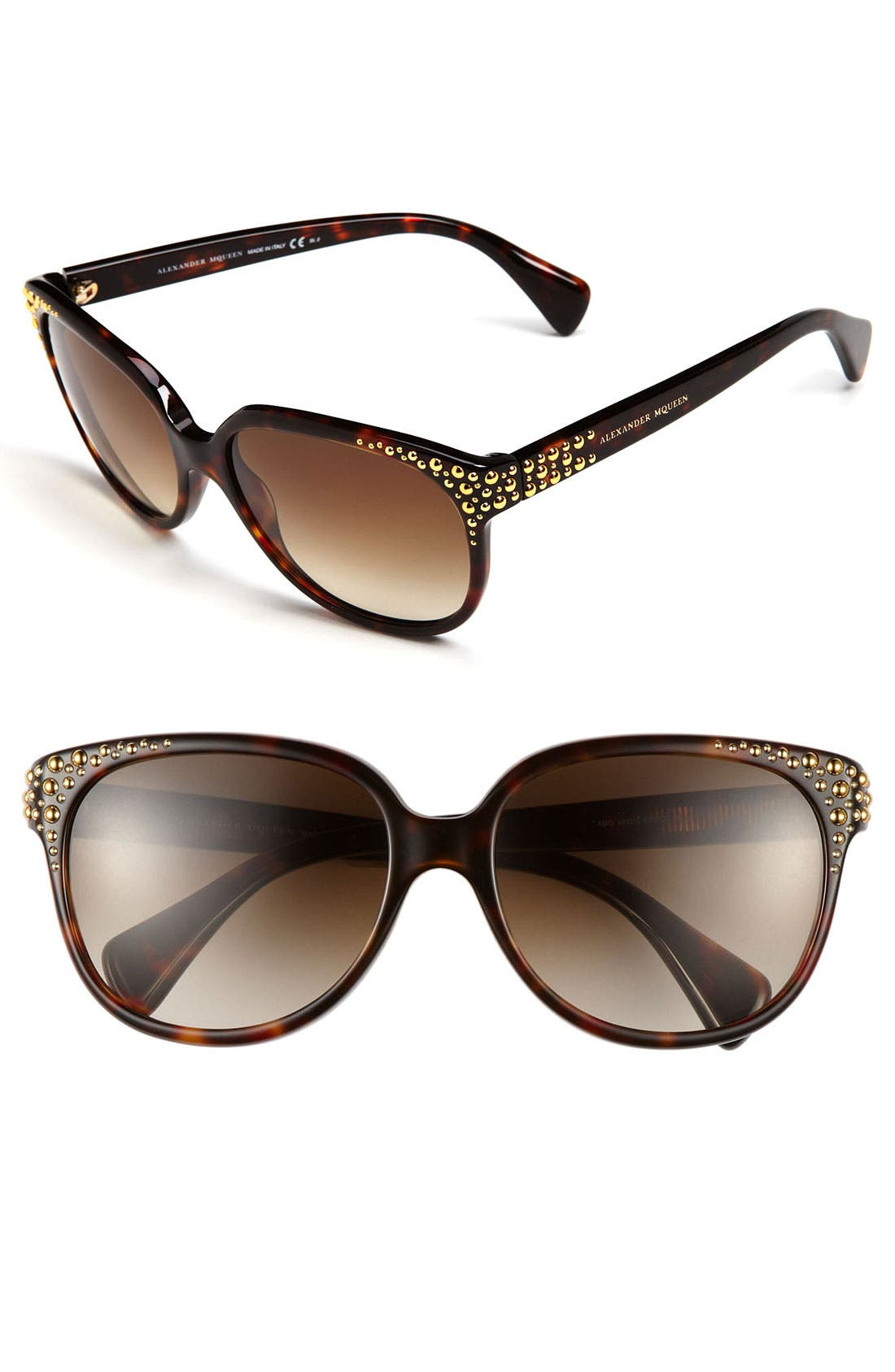 Alternate Image 1 Selected - Alexander McQueen 58mm Studded Retro Sunglasses